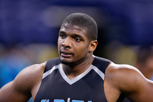 "Successful US football defensive end, who became the first openly homosexual player to have been drafted to National Football League (NFL). These were his words: ""I'm not afraid to tell the world who I am. I'm Michael Sam: I'm a college graduate. I'm African-American, and I'm gay."""