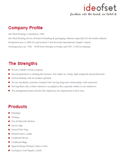 Doc814883 Sample Business Profile Template Company Profile – Professional Business Profile