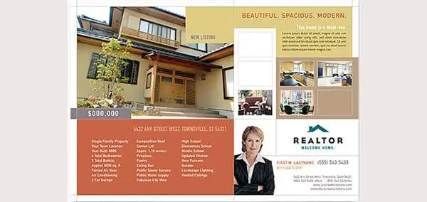 6  real estate flyer templates psd