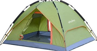 10. Ohuhu Camping Tent, 3 Persons