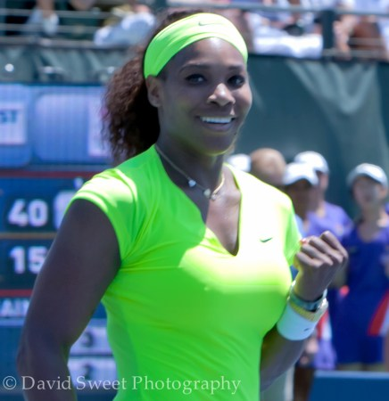 Serena Williams after winning (1 of 3)