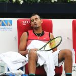 226 Kyrgios sleeping