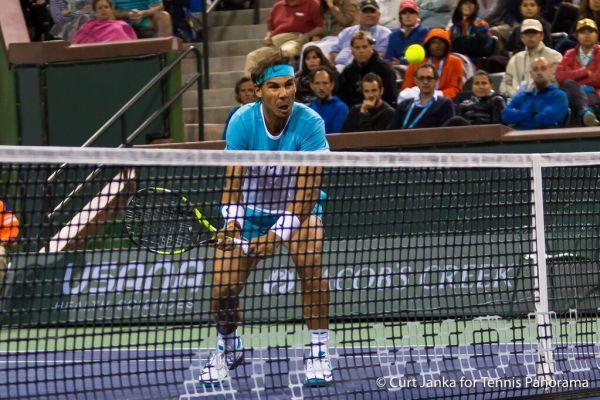 Nadal at net