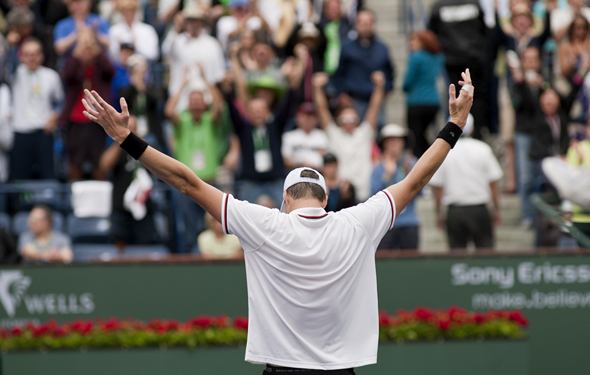 Isner was great in Davis Cup but struggled in the majors.