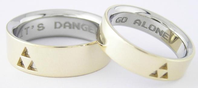 Pop Culture Zelda Wedding Rings