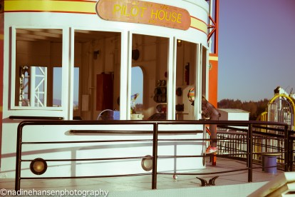 Photo by Nadine HansenThe much loved Pilot House tugboat play space on the boardwalk at Westminster Quay