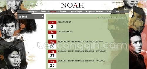 Jadwal Konser Noah 2013