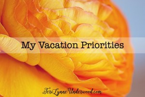 My Vacation Priorities
