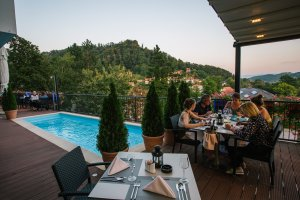 Terasa restorana Villa Magdalena, Krapinske Toplice