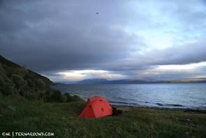 Private camping along the freezing Rio Encajonado