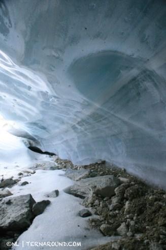 Polished walls of ice