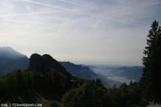 View over Lecco lake