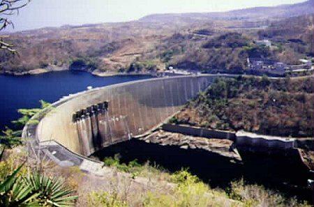 The Magnificent Kariba Dam Wall Across the Zambezi River