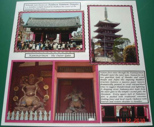 Sensoji Asakusa Kannon temple Japan Scrapbooking and Design Japan
