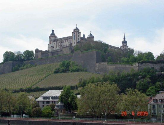 Marianberg-Fortress-& grapvines Wurzburg Bavaria Germany