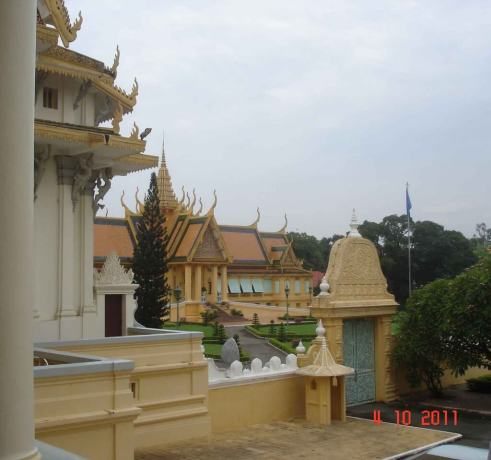 Glimpse of the Royal-Palace-taken from Throne Hall Cambodia 2011