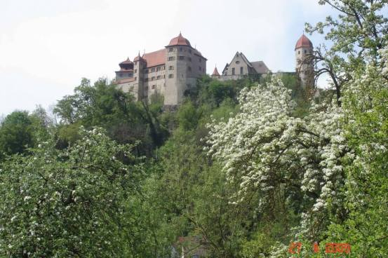 Leaving Dinkelsbuhl - Harburg Castle and important fortification in 12th century.