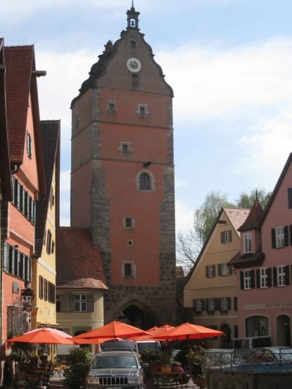 Dinkelsbuhl - Wornitz-Tower -oldest of the city's four gates and fortifications