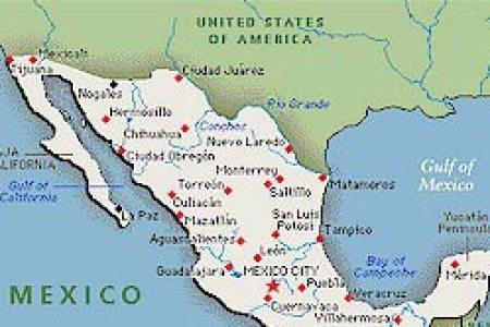 map mexico us border