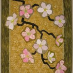 Terry Aske_Cherry Blossom on Gold Background