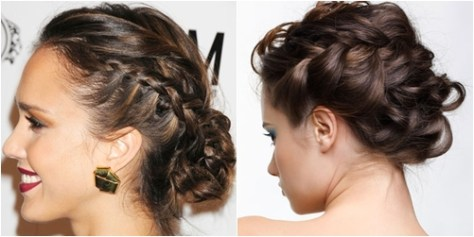 sanggul messy braid updo