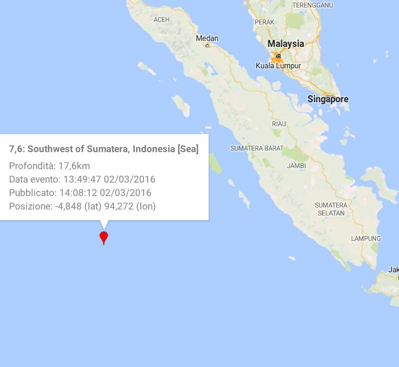 Sumatra: Violento terremoto M7,8 provoca il panico in Indonesia