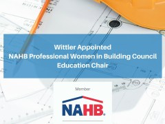 Wittler Appointed NAHB Professional Women in Building Council Education Chair
