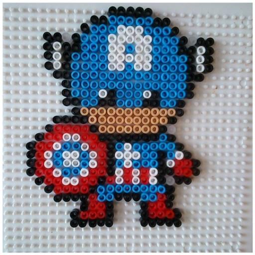 Thor captain america et iron man en perles repasser testinaute home - Perles a repasser modeles gratuit ...