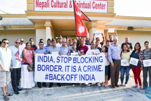 Nepalese Society of Texas Organized Peaceful Demonstration Against India's Blockade To Nepal - TexasNepal News