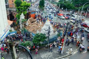 Thapathali Shiva Temple Collapses After Rainfall - TexasNepal