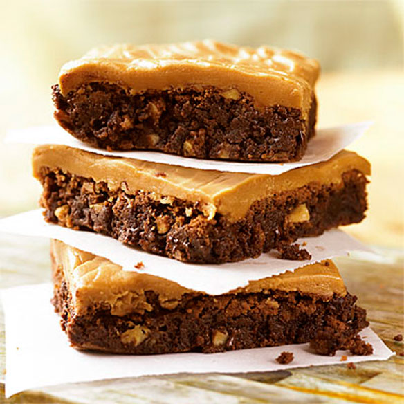 Double-Chocolate-Brownies-with-Caramel-Frosting