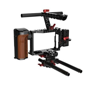 Moza-Camera-Cage-2-with-Remote-Control-and-Power-Supply-System-for-the-Sony-A7-series-Cameras-Black-MC2-B01F6PPIOQ