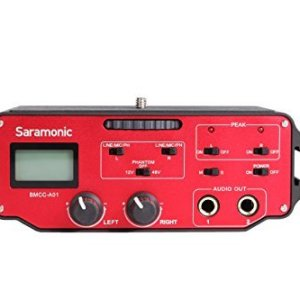 Saramonic-BMCC-A01-2-Channel-XLR-Audio-Adapter-for-BlackMagic-Design-Camera-Black-Red-B00SSO1ZU4