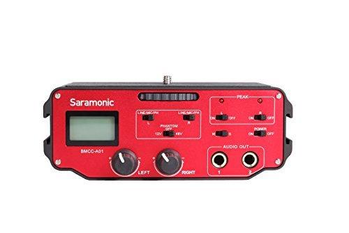Saramonic-BMCC-A01-2-Channel-XLR-Audio-Adapter-for-BlackMagic-Design-Camera-Black-Red-B00SSO1ZU4