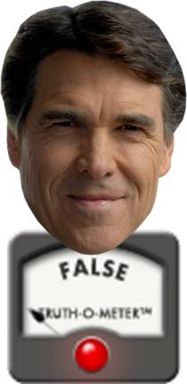 truth o meter rick perry false climate change
