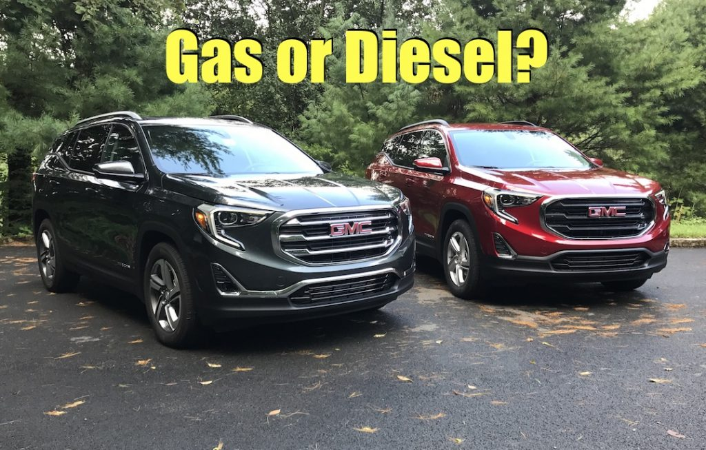 All new 2018 GMC Terrain  Gas or Diesel First Drive Review   The     2018 gmc terrain awd crossover turbo gas diesel comparison