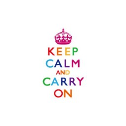 TGI Found It Keep Calm and Carry On Multicoloured Canvas