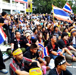 Protesters in Bangkok occupy the Finance Ministry compound