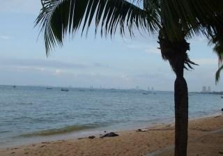 View of Bang Saen beach in Chonburi province