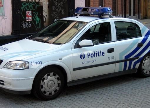 Police car in Antwerp, Belgium