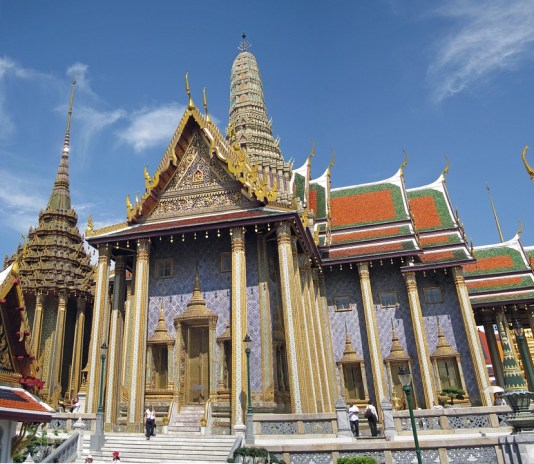 The Grand Palace architecture in Bangkok