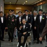 HM the King of Thailand undergoes a treatment to rectify his unstable gait