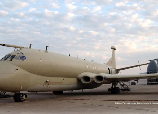 Royal Air Force MR-2 Nimrod reconnaissance aircraft at Incirlik Air Base, Turkey
