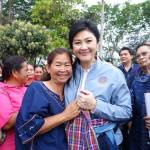 PM Yingluck Shinawatra inspects drought situation in Sakon Nakhon