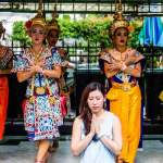 thai dance at erawan shrine
