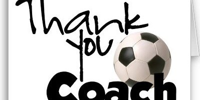 Thank you image for coach  - soccer