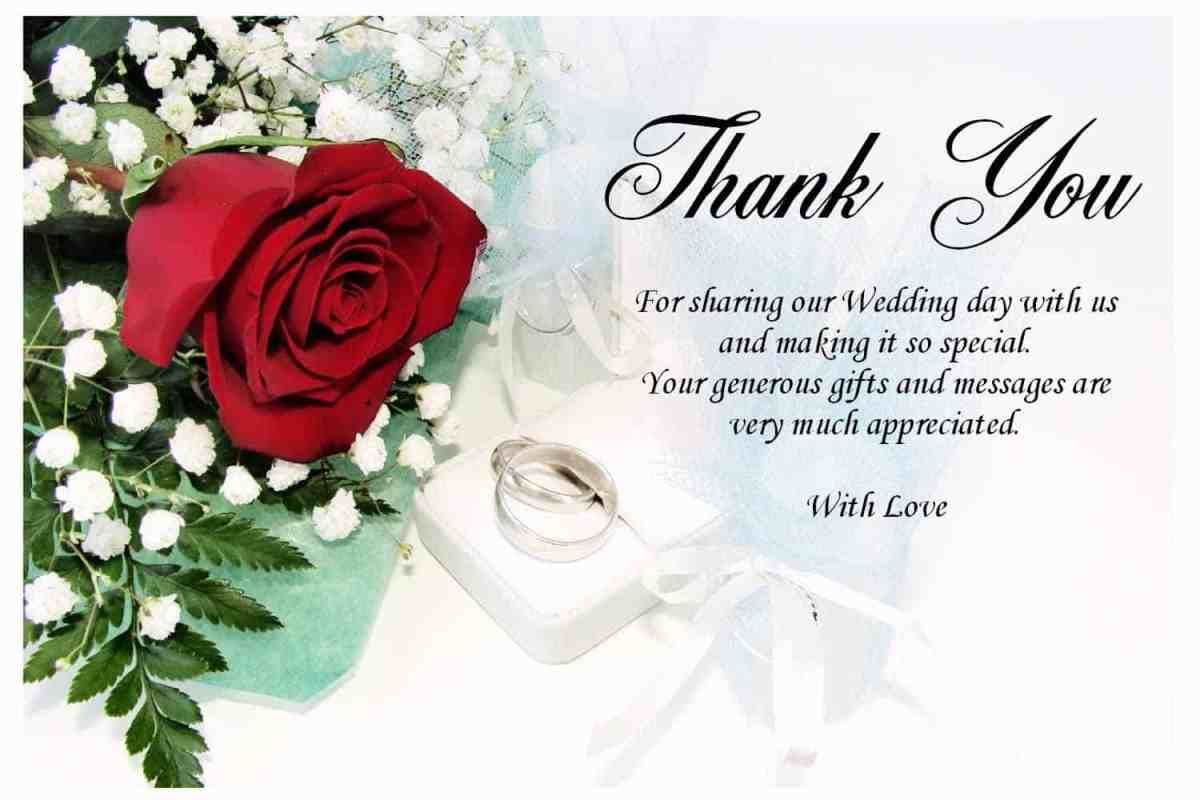 Thank You Letter For Wedding Program on What To Write In Thank You Cards Writing