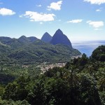 Souffriere Town and Pitons, St Lucia