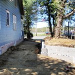 Side Wall/Drain/Future Porch Area