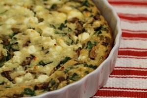 That Shiksa Can Bake – Spinach, Mushroom and Feta Quiche